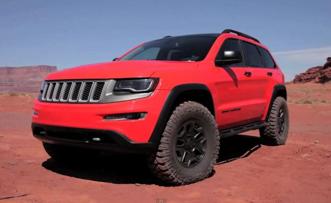 jeep grand cherokee trailhawk ii concept video first look news. Black Bedroom Furniture Sets. Home Design Ideas