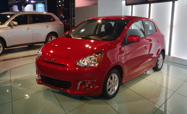 mitsubishi mirage debuts with 40 mpg combined news. Black Bedroom Furniture Sets. Home Design Ideas