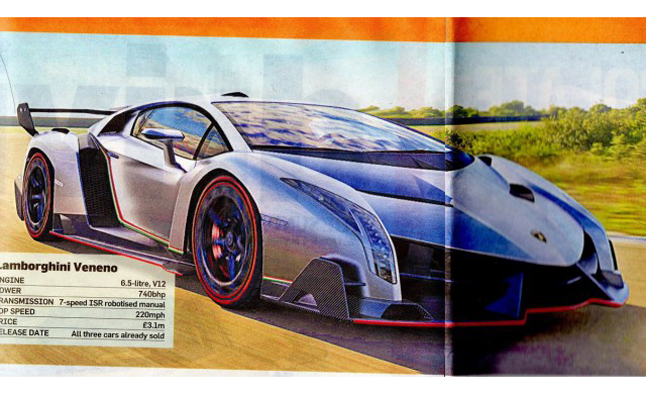 lamborghini veneno leaked priced at 4 6 million news. Black Bedroom Furniture Sets. Home Design Ideas