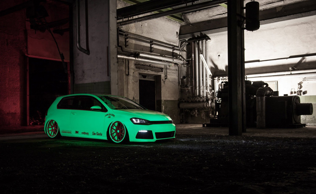 Glow In The Dark Vw Golf Will Play With Your Emotions