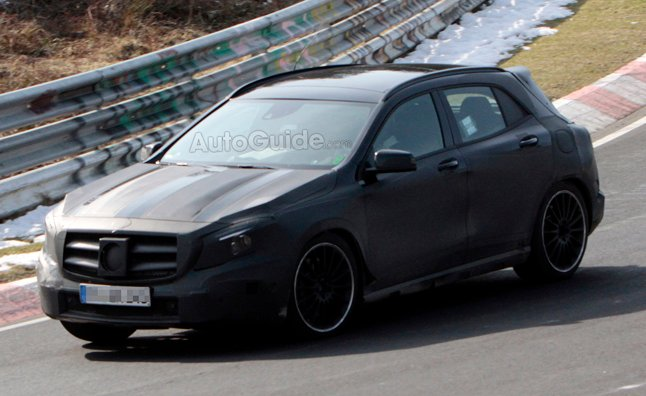 mercedes gla forum mercedes gla45 amg spied at the n rburgring. Black Bedroom Furniture Sets. Home Design Ideas