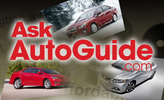 Ask AutoGuide No 10  Honda Civic vs Toyota Corolla vs Subaru