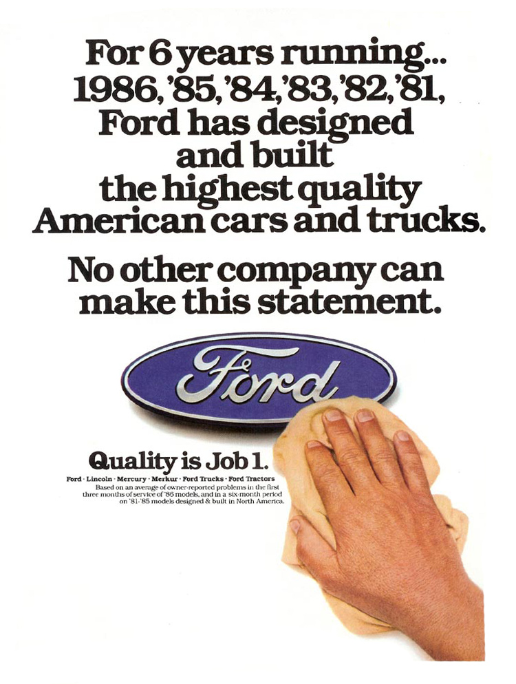 Ford Quality Is Job 1