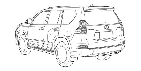 2014 lexus gx 460 facelift leaked in technical drawings