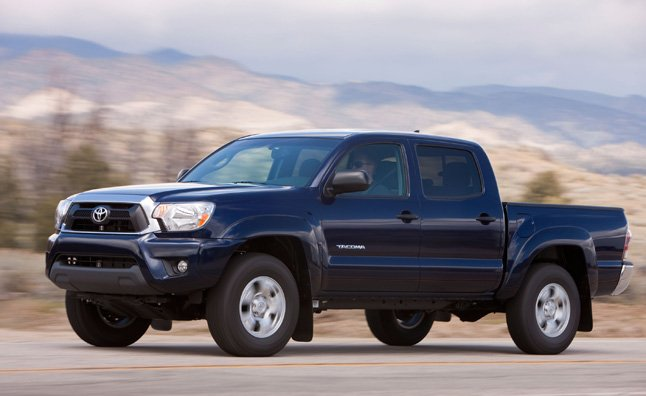 The 2014 Toyota Tacoma is priced to sell. A 4×2 regular-cab model