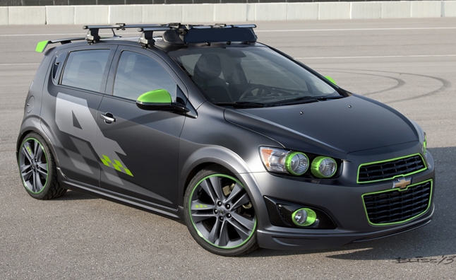 Chevy previews sema show concepts including performance focused sonic rs spark ev autoguide