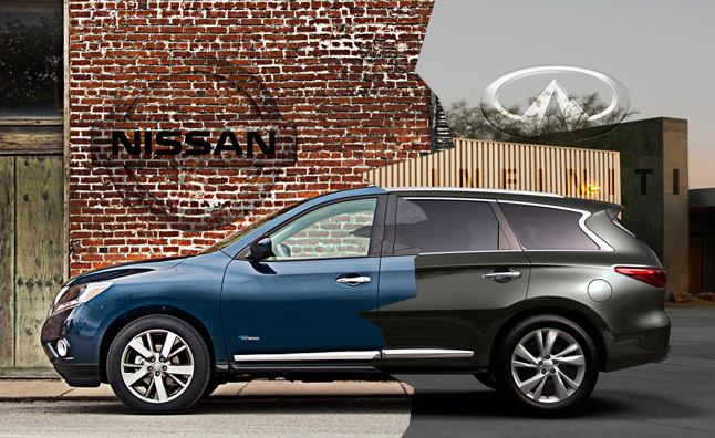 Mechanically Under Their Respective Wardrobes The Qx60 And Pathfinder Are Identical Ok Fine One Subtle Nuance S Vqv6 Is Tuned For An Extra 5