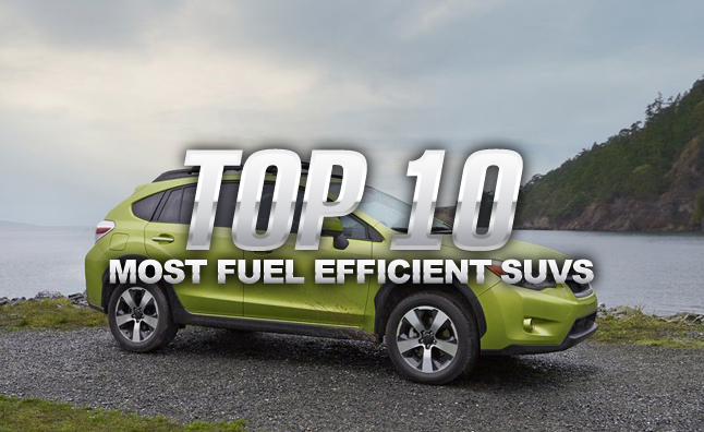 10 Most Fuel Efficient SUVs