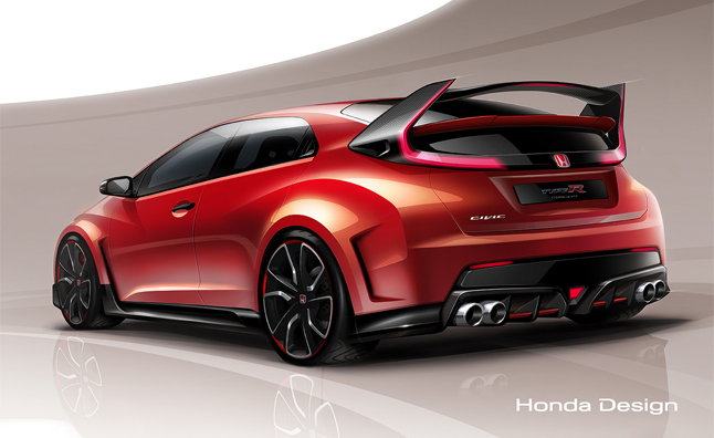 civic type r concept looks nurburgring record ready. Black Bedroom Furniture Sets. Home Design Ideas