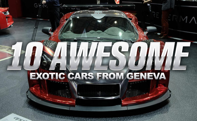 10 awesome exotic cars from the geneva motor show