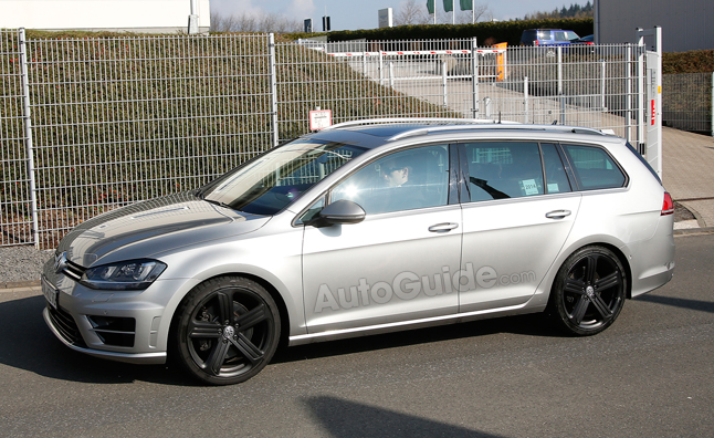 Volkswagen golf r wagon spotted in spy photos autoguide com news