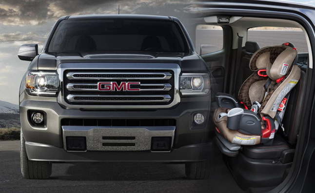 2015 gmc canyon adapts to accept child seats autoguide. Black Bedroom Furniture Sets. Home Design Ideas