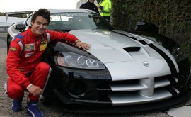 Dominik Farnbacher drove the 2010 Dodge Viper SRT10 ACR to a new