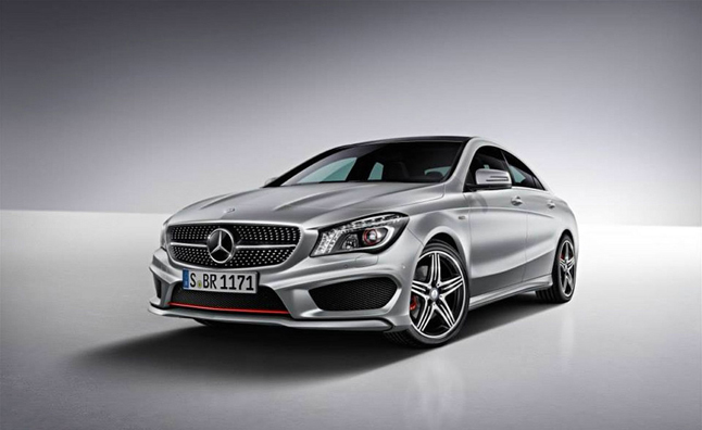 mercedes cla 250 gets optional sport package plus mercedes benz forum. Black Bedroom Furniture Sets. Home Design Ideas