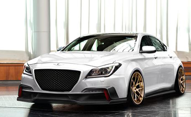 2015 hyundai genesis gets supercharged for sema news. Black Bedroom Furniture Sets. Home Design Ideas