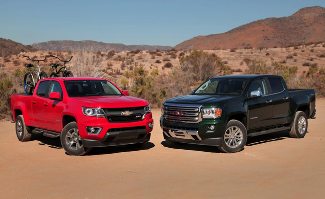Compare gmc canyon chevrolet colorado