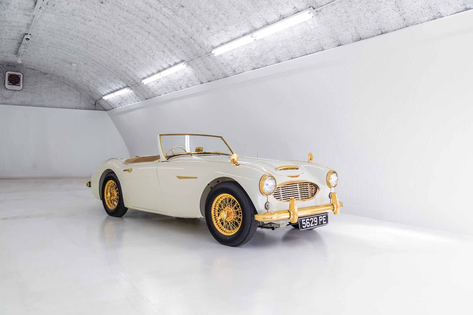 This Austin Healey Has 24K Gold Trim And A Real Ivory