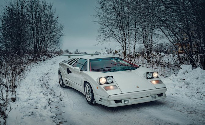 Ring In The New Year With A 1991 Lamborghini Countach 25th