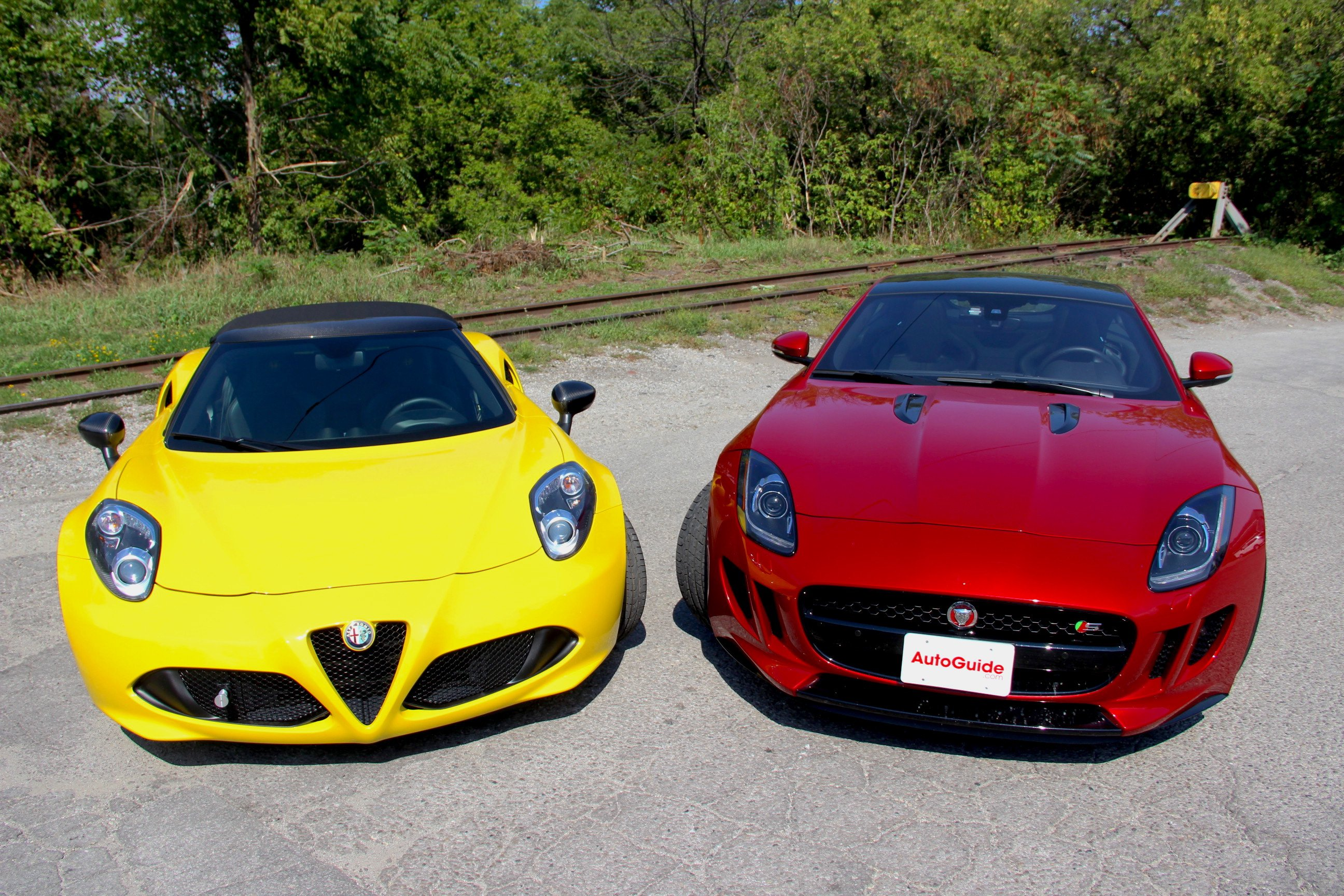 2016 Alfa Romeo 4c Spider Vs Jaguar F Type S Sound