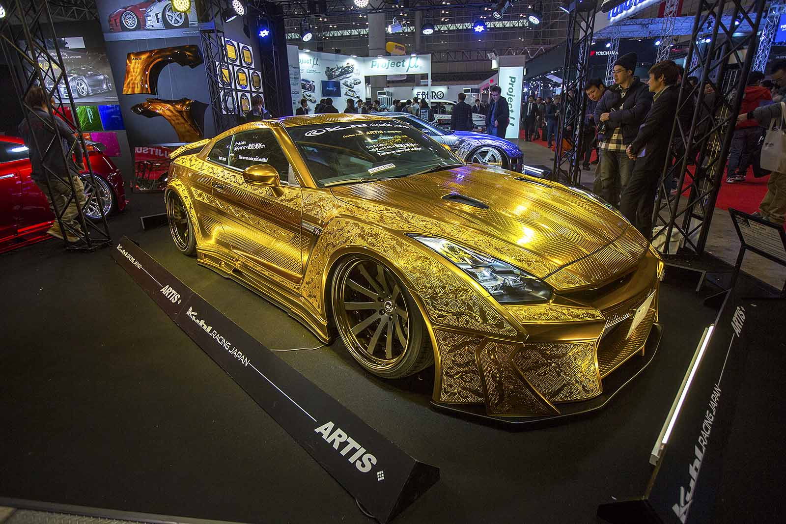This Embossed Gold Nissan Gt R Is All Sorts Of Crazy