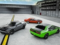 2017 Dodge Challenger T/A 392 (left), 2017 Dodge Challenger T/A (right) and 1970 Dodge Challenger T/A
