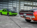 2017 Dodge Challenger T/A (left) and 1970 Dodge Challenger T/A (right)