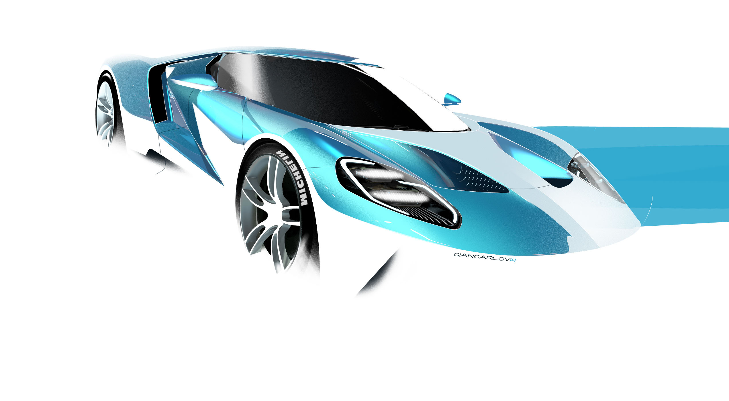 Ford Gt Sketch Viganego