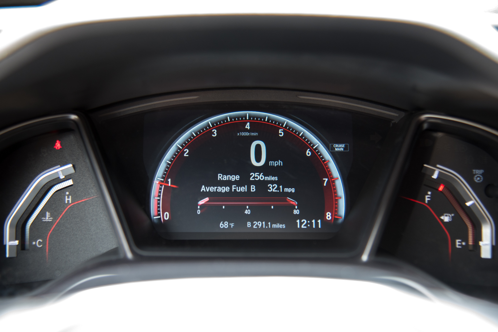 2017 Honda Civic Si Gauges