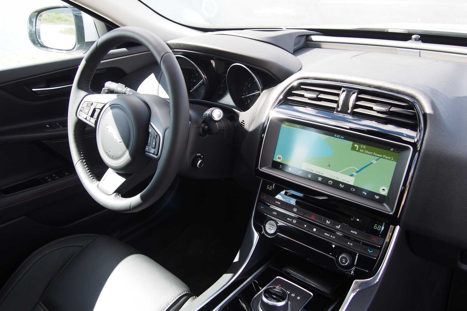 Jaguar Interior 2017 >> 2017 Jaguar Xe Review Autoguide Com