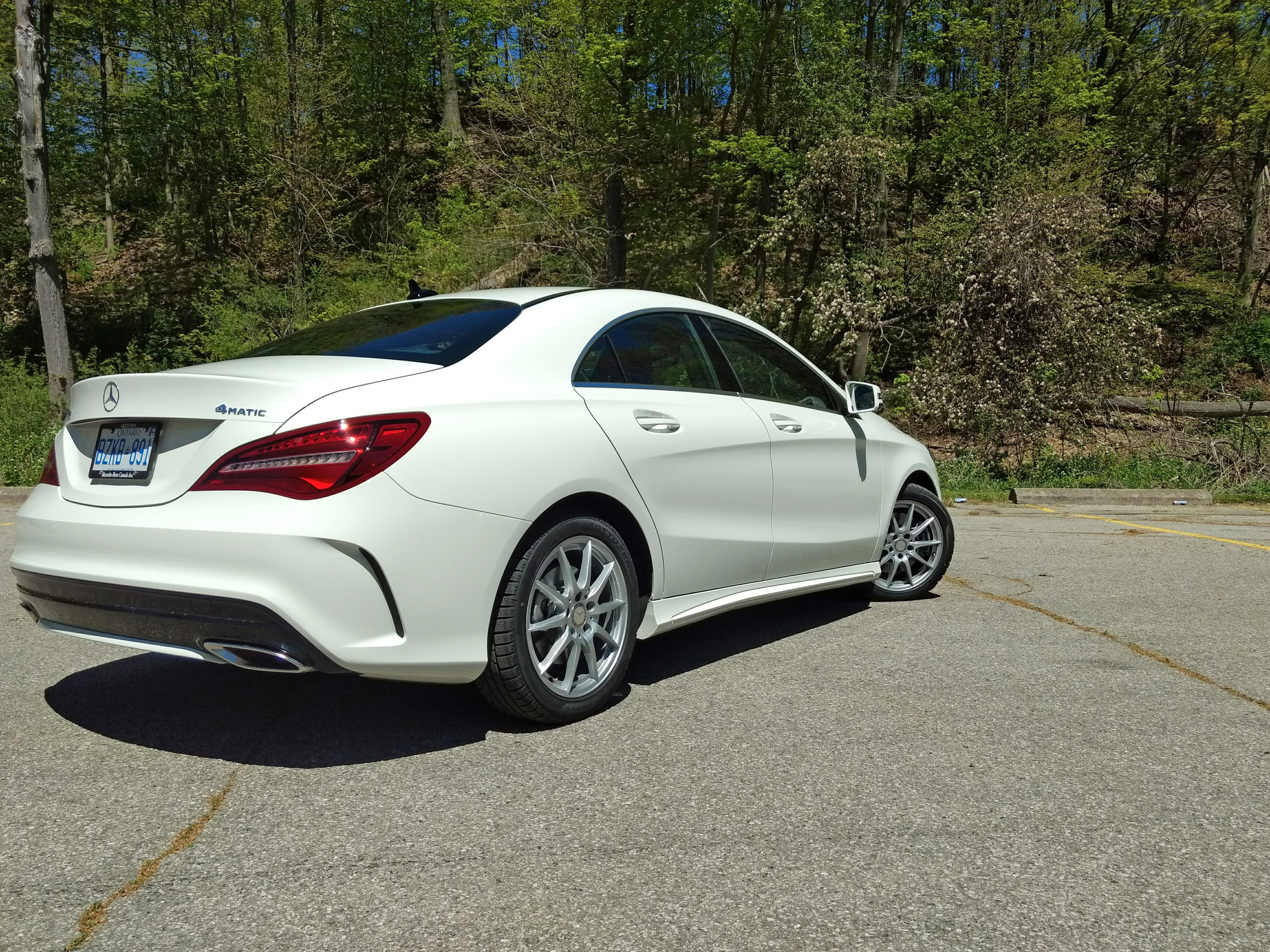 2017 Mercedes Cla 250 4matic Review Rear3q