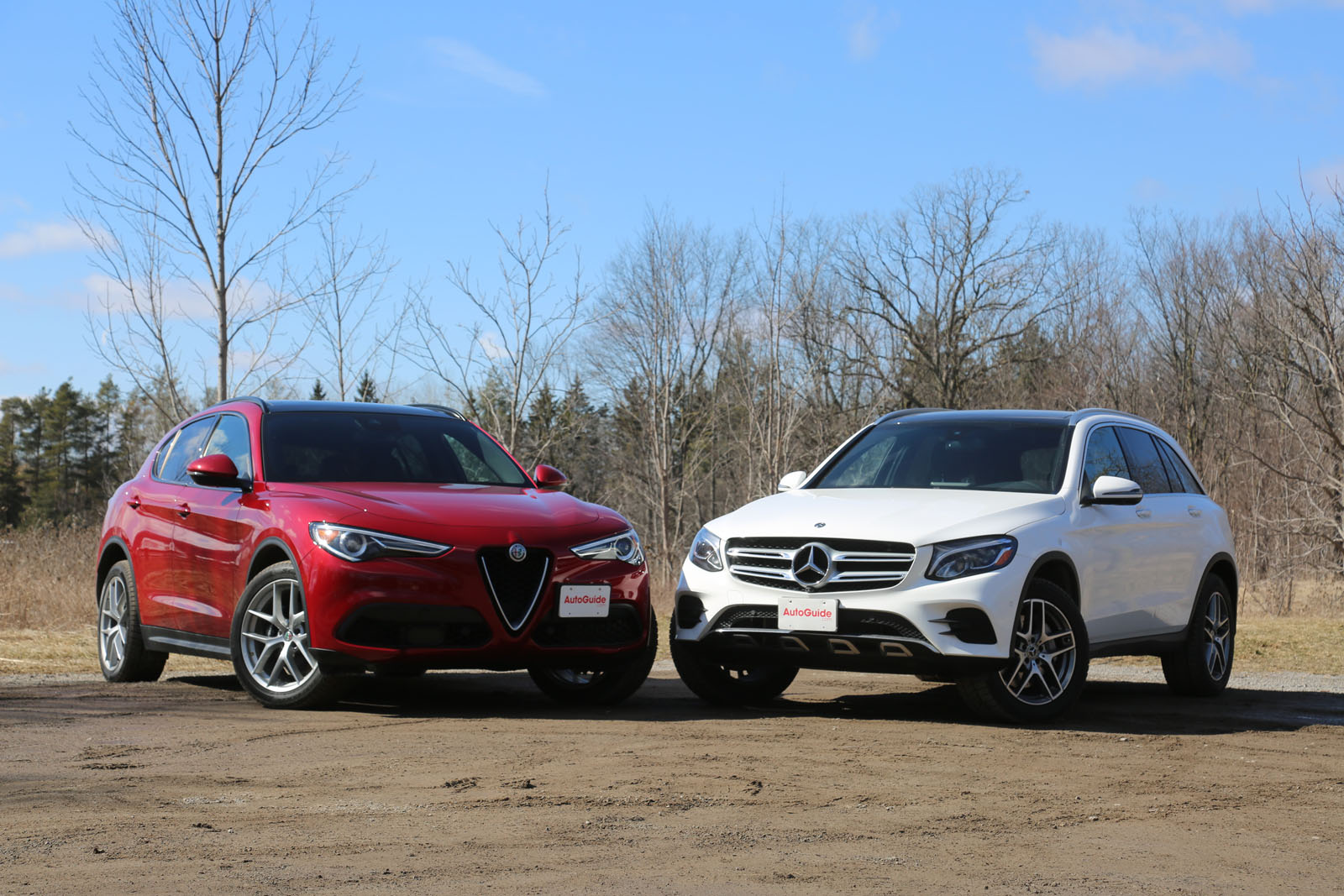 2018 Alfa Romeo Stelvio Vs Mercedes Benz Glc Comparison Autoguide Com