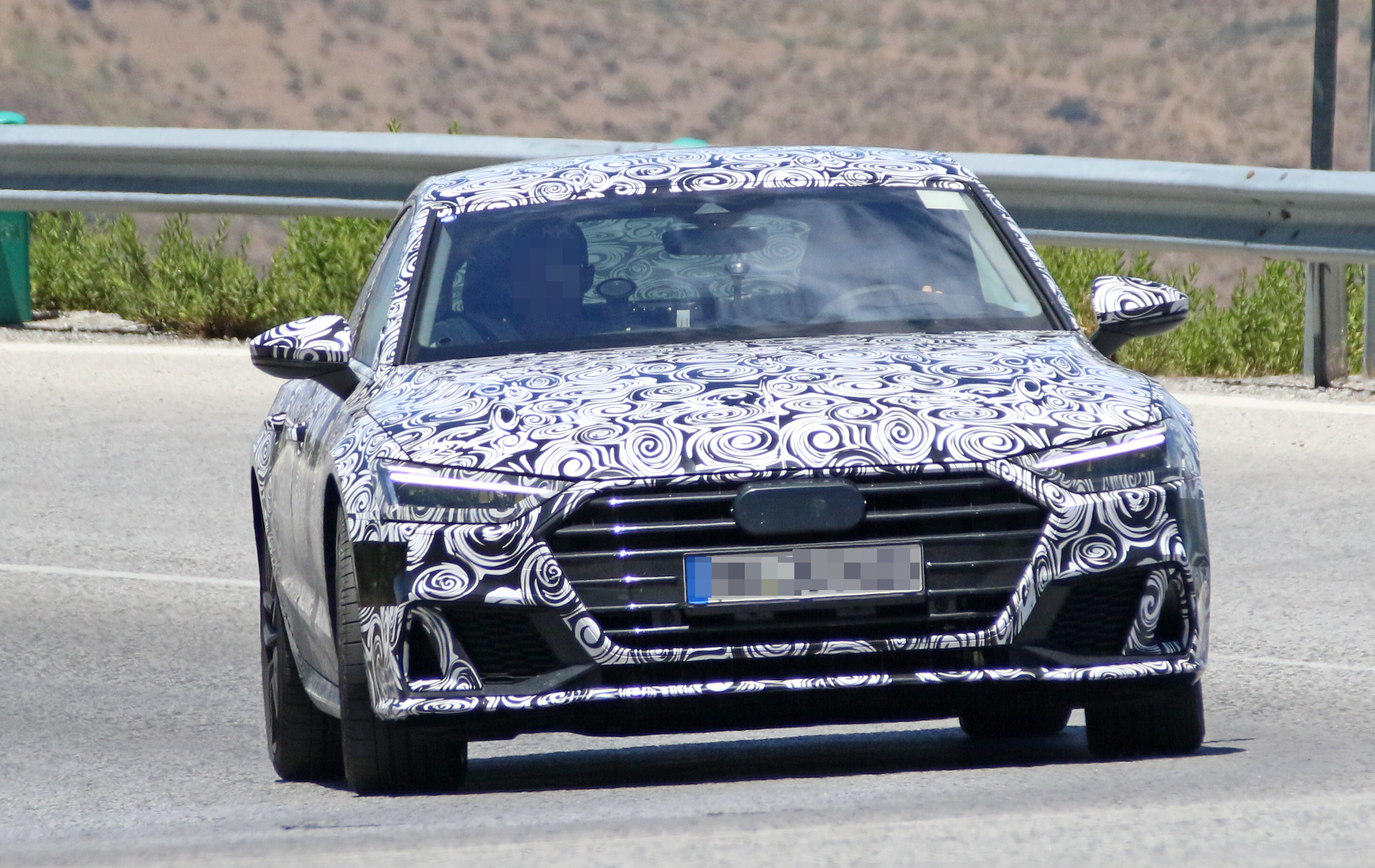 Audi S Spied Testing In The Heat Of Southern Europe - 2018 audi s7