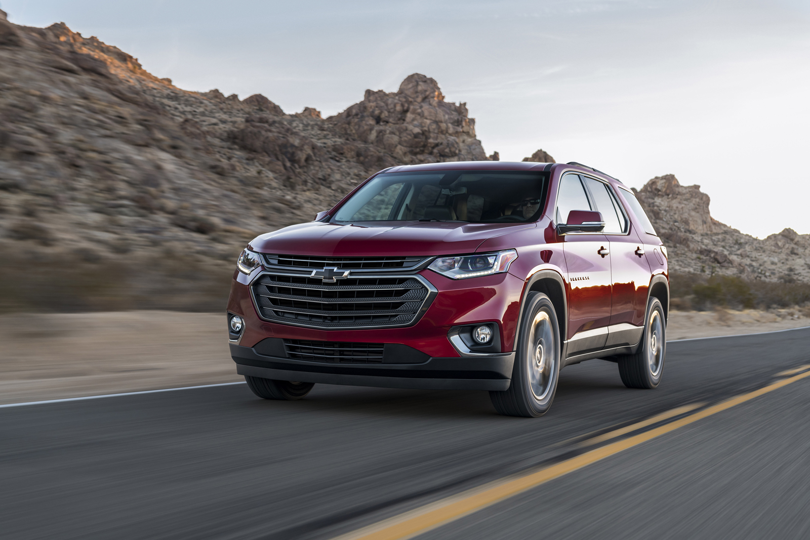 the 2018 traverse rs features a more street inspired style with blacked out styling