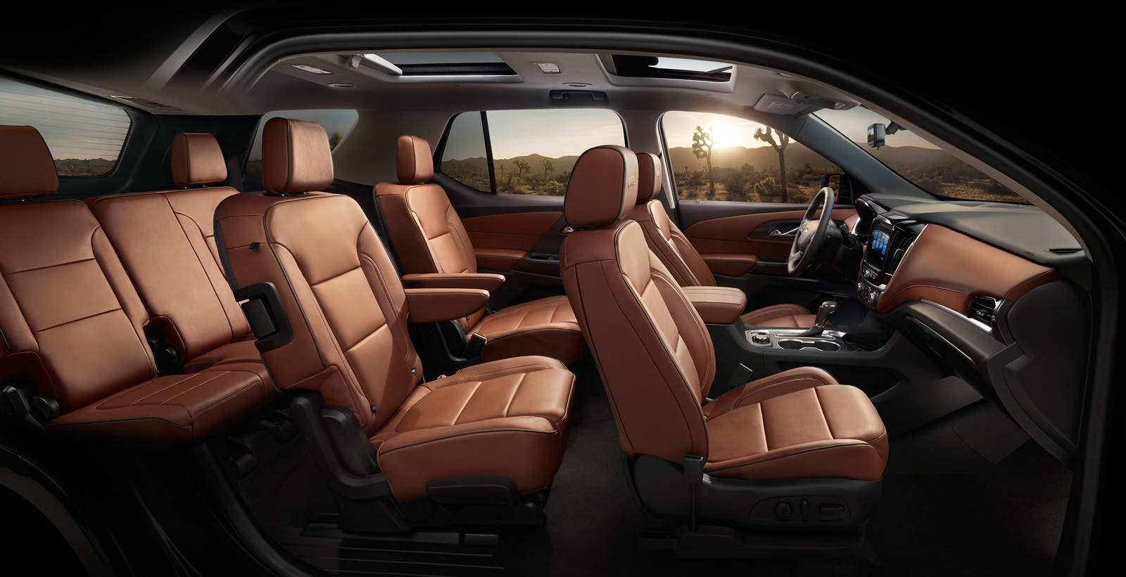 the 2018 traverse s enhanced smart slide seat allows the curbside seat to tip up and