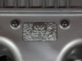 Custom Demon diecast emblem located on the cover of the 6.2-liter supercharged HEMI® Demon V-8 engine.