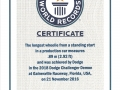 Guinness World Records certification of the 2018 Dodge Challenger SRT Demon record.
