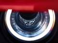 The 2018 Dodge Challenger SRT Demon's driver-side functional Air-Catcher headlamp features a Demon logo.