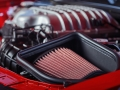 A low-restriction air filter is nestled in the top-sealed Air-Grabber™ cold-air intake box to feed the 6.2-liter supercharged HEMI® Demon V-8 engine in the Dodge Challenger SRT Demon.