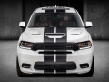 New dual-center exterior stripes are tailored to emphasize the functional yet aggressive exterior designs of the 2018 Dodge Durango R/T and SRT models.