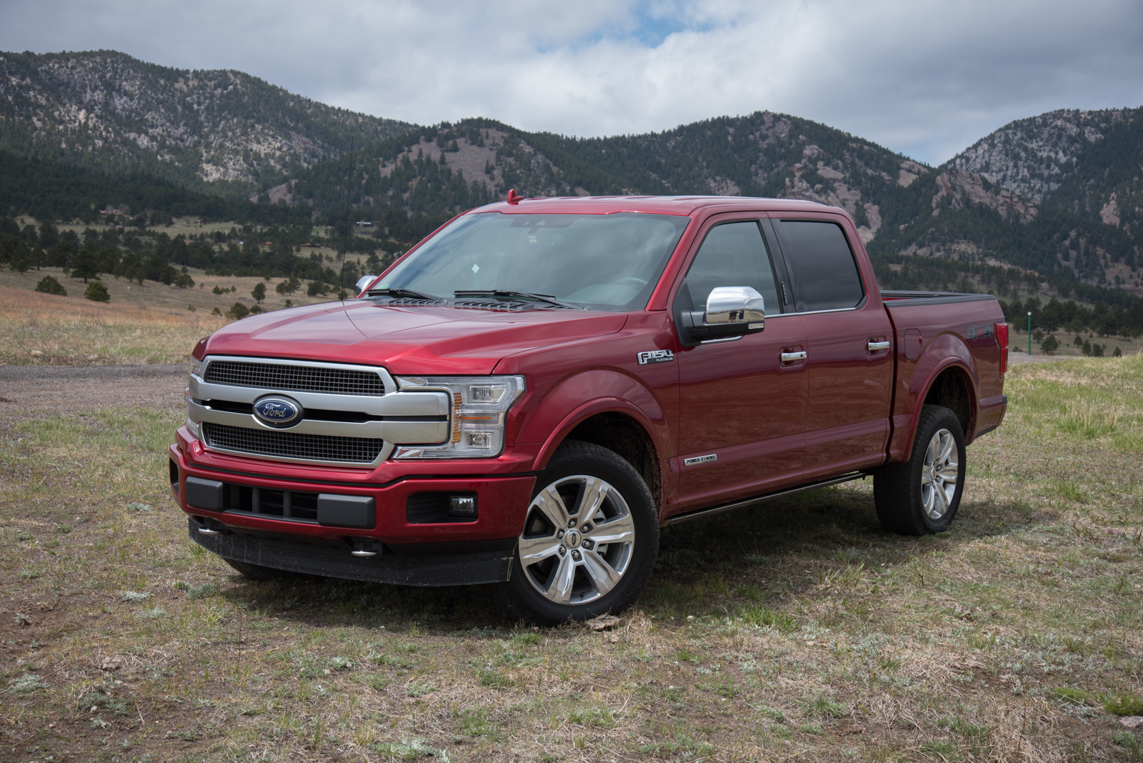2018 ford f 150 platinum power stroke front