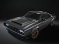 """Highlights of the 1968 Dodge """"Super Charger"""" Concept include a hood scoop based on the Dodge Challenger SRT Demon, Dodge Charger SRT Hellcat headlamps placed behind the grille and shaved door handles and drip rails, creating a clean, streamlined appearance."""