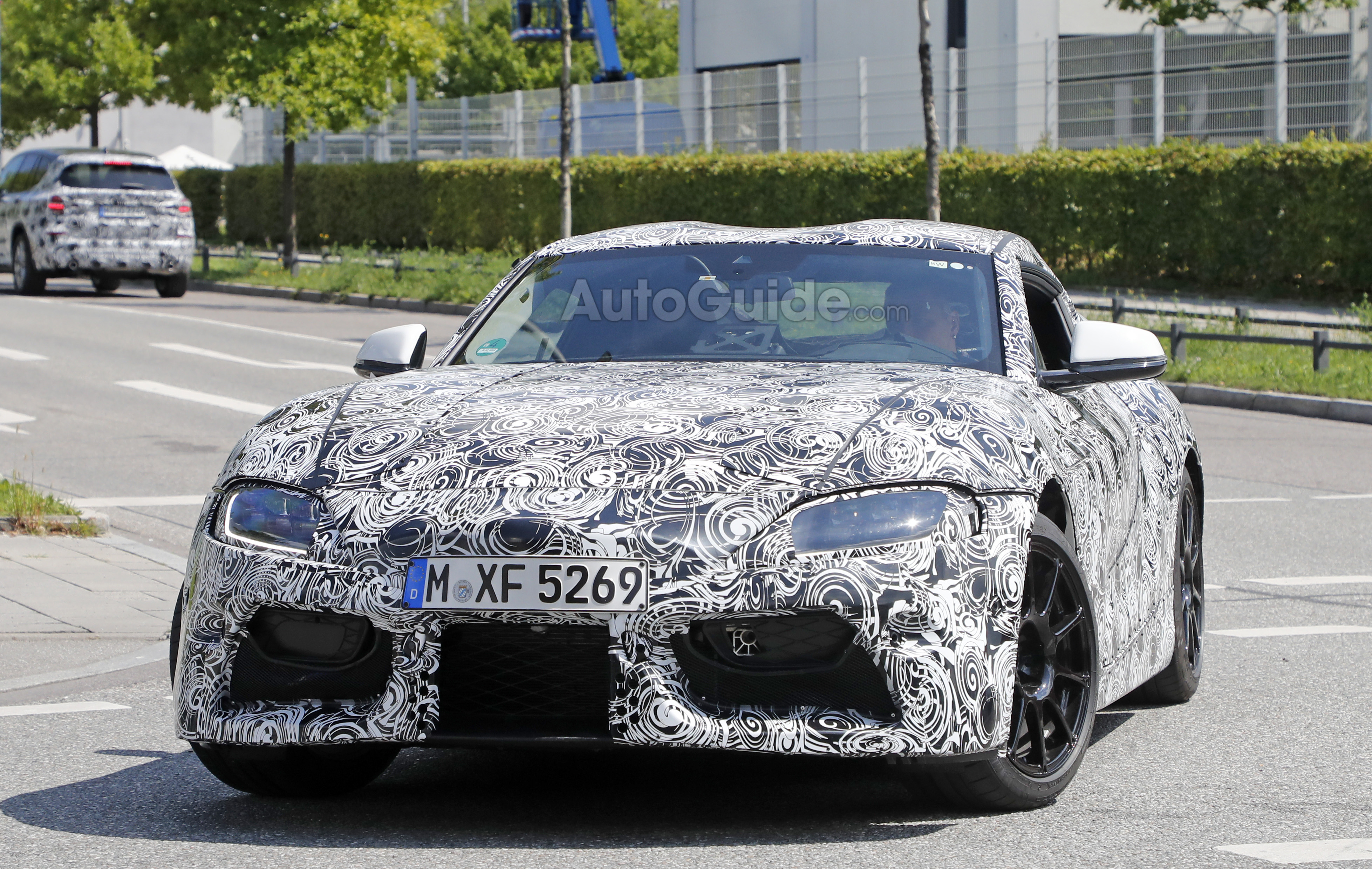 2018 toyota sports car. perfect sports 2018 toyota supra shows off production cues in latest spy photos   autoguidecom news and toyota sports car