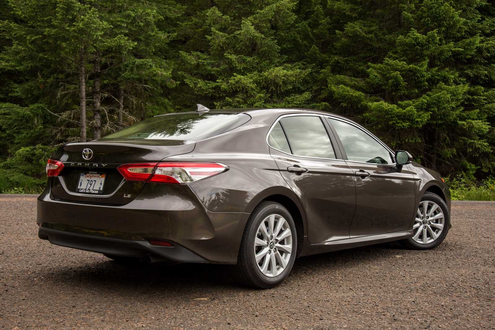 2018 Toyota Camry Le Rear Three Quarter