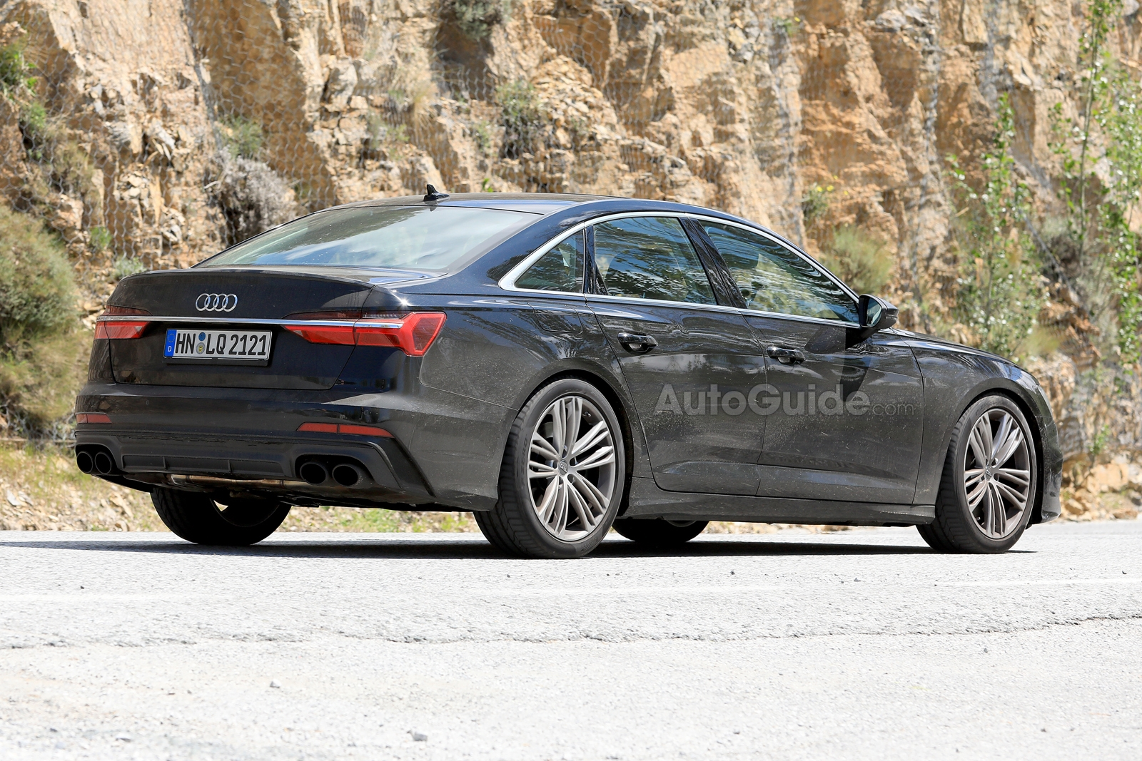 2019 audi s6 spied with actual  real exhaust tips  u00bb autoguide com news