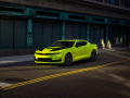 The 2019 Camaro SS will be offered in the new Shock exterior starting in early 2019. It is shown with dealer-available accessories and performance parts, as well as concept parts.