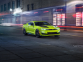 Concept graphics and front-end styling contrast sharply with the 2019 Camaro's new Shock exterior color, which is available early 2019.