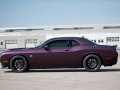 """The 2019 Dodge Challenger R/T Scat Pack 1320 is a drag-oriented, street-legal muscle car designed with the grassroots drag racer in mind. Named for the quarter-mile distance (1,320 feet), the Challenger R/T Scat Pack 1320 is powered by the stalwart 392 HEMI® V-8 that delivers 485 horsepower and 475 lb.-ft. of torque. Running the quarter-mile in 11.7 seconds at 115 mph makes the showroom-stock Challenger R/T Scat Pack 1320 the fastest naturally aspirated, street-legal muscle car available. Vehicle shown in custom """"Black Eye"""" high-impact exterior paint being used on the launch vehicle to gauge interest as potential future production exterior color."""