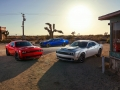 2019 Dodge Challenger R/T Scat Pack Widebody, SRT Hellcat Widebody, SRT Hellcat Redeye Widebody (from left to right)