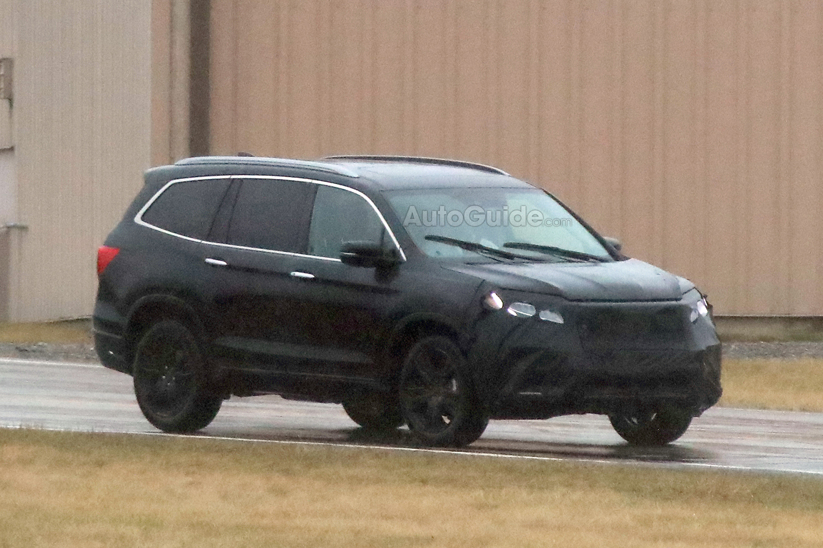 2019 Honda Pilot Partially Revealed In New Spy Photos Ridgeline Owners Club Forums