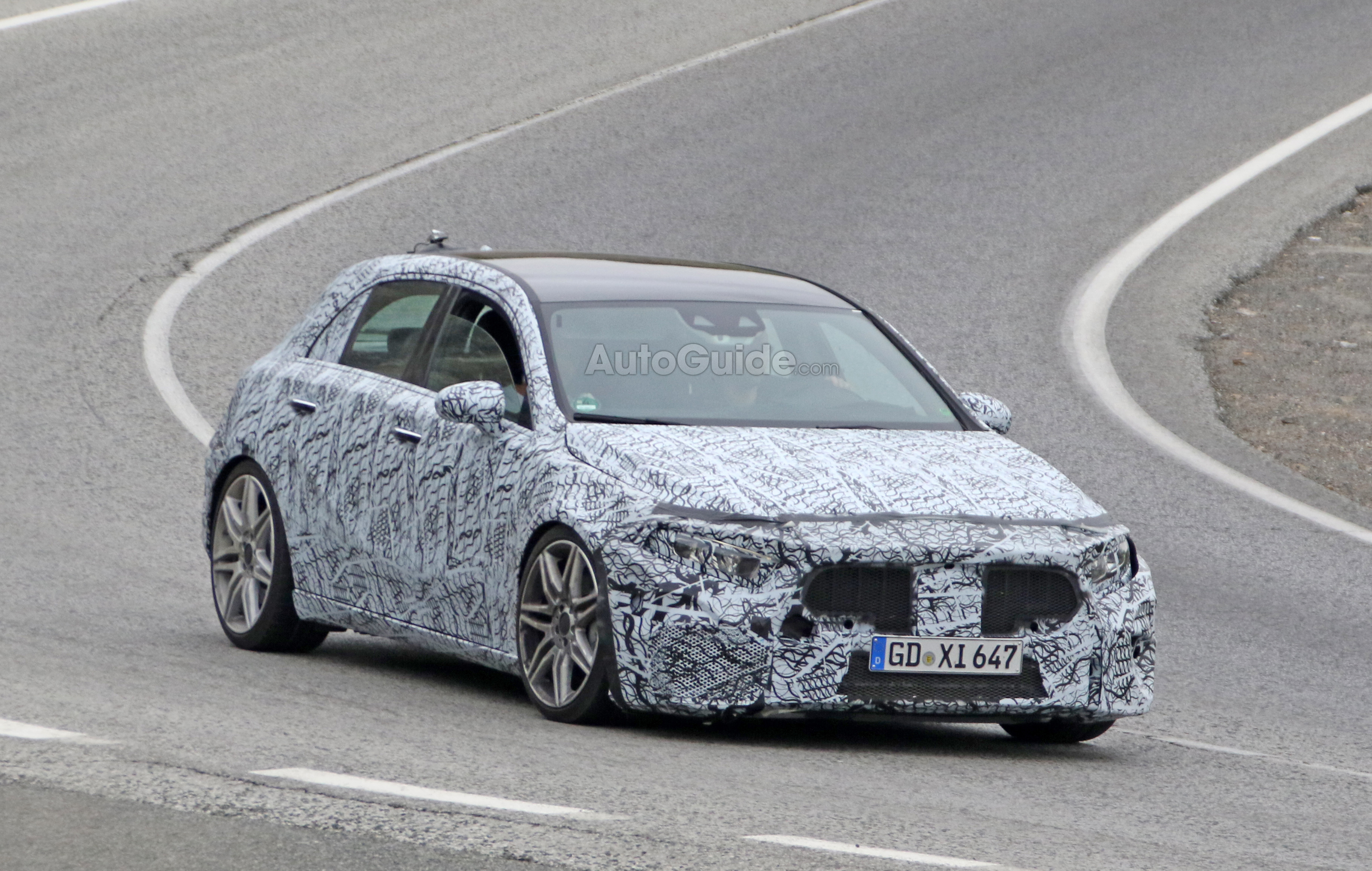 2019 Mercedes Amg A45 With 400 Hp 2 0l Spied Testing